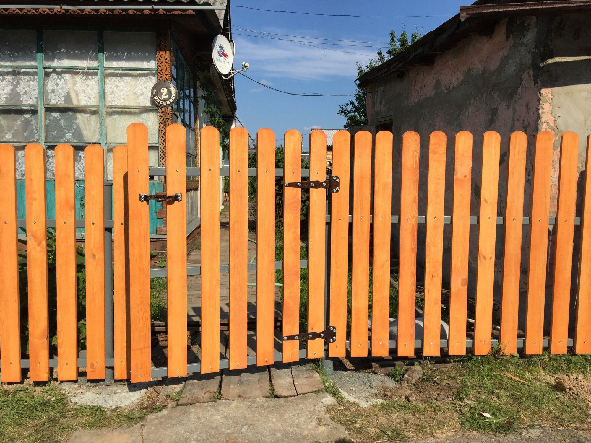 Забор своими руками поэтапно фото