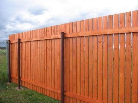 деревянный забор высотой 2 метра с минимальным зазором