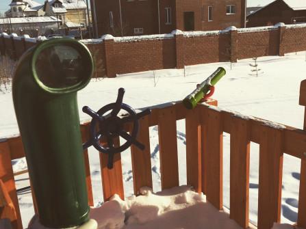 Дополнительное тематическое оборудование: перископ , штурвал, телескоп.