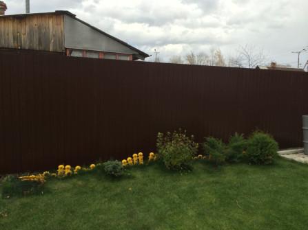 забор из профлиста, установка и демонтажные работы