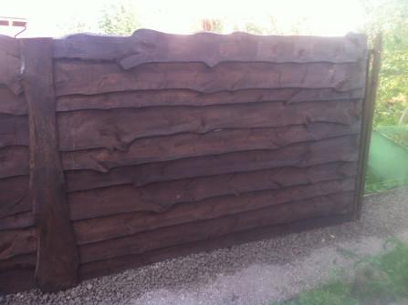 Деревянный забор цвет орех высотой 2 метра